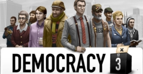 Democracy 3, Menu screen, Game developed by Positech.co.uk