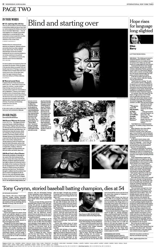 International New York Times 2014