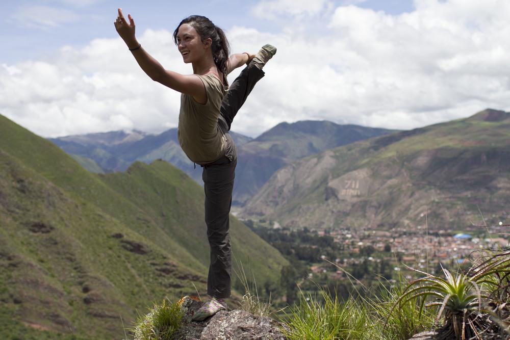 Rebekah's yoga picture.