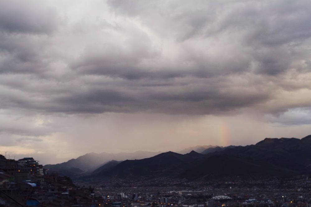 Rainbow on my hike back down!