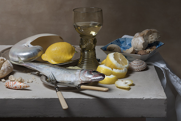Peter Claesz, Still Life with Hake, 17th century, Dutch