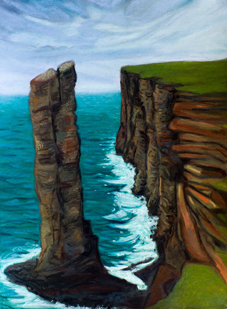 Old Man of Hoy, pastel