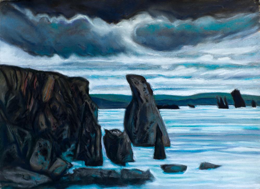 Eshaness, Shetland, pastel