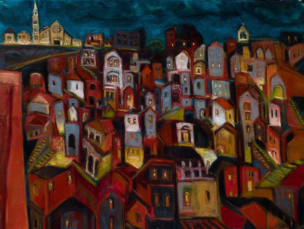 Matera. oil pastel 22x30.jpg