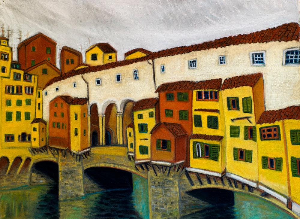 Ponte Vecchio #2, pastel 30x39.jpg