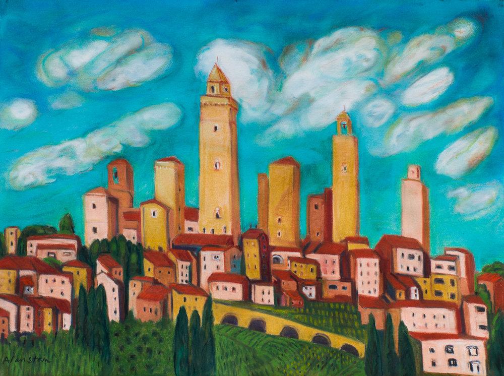 San Gimignano #1, pastel 22x30.jpg