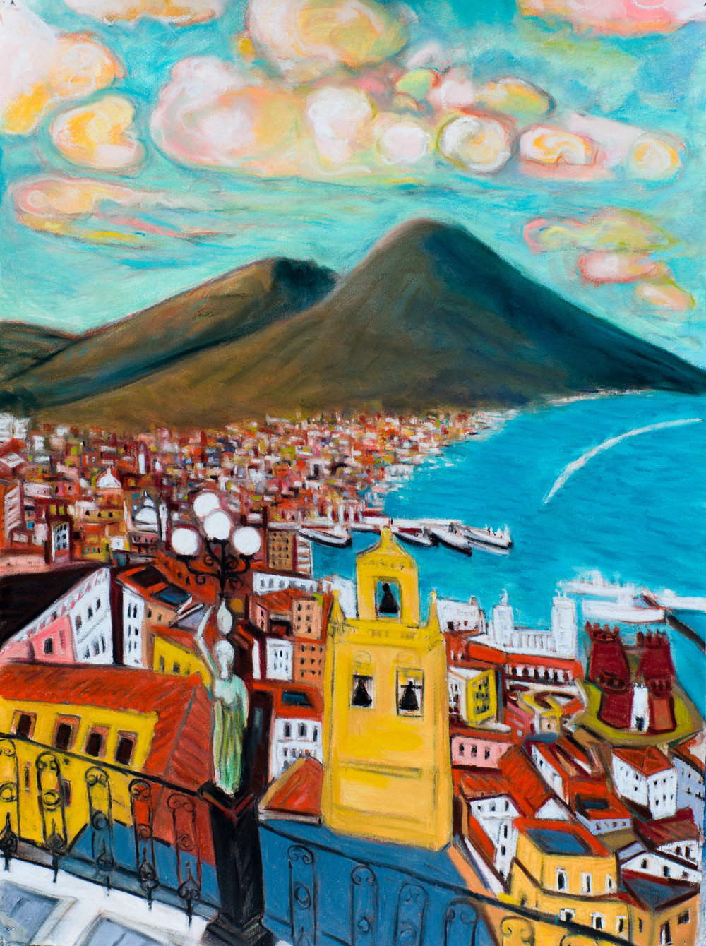 View From Naples, pastel 22x30.jpg
