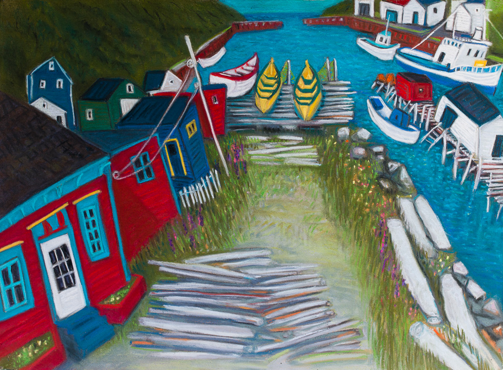 Red House, Petty Harbour. pastel 22x30