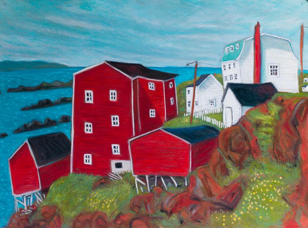 Red Cliff, Newfoundland. pastel 22x30