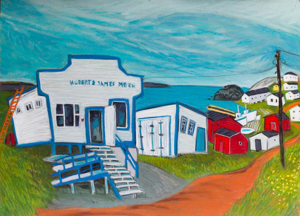 Keels Store, Newfoundland. pastel 22x30