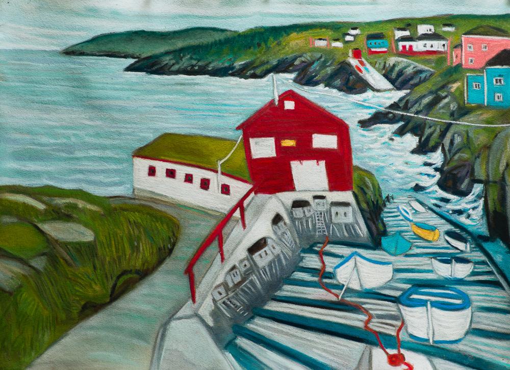 Pouch Cove, NL 22x30 pastel