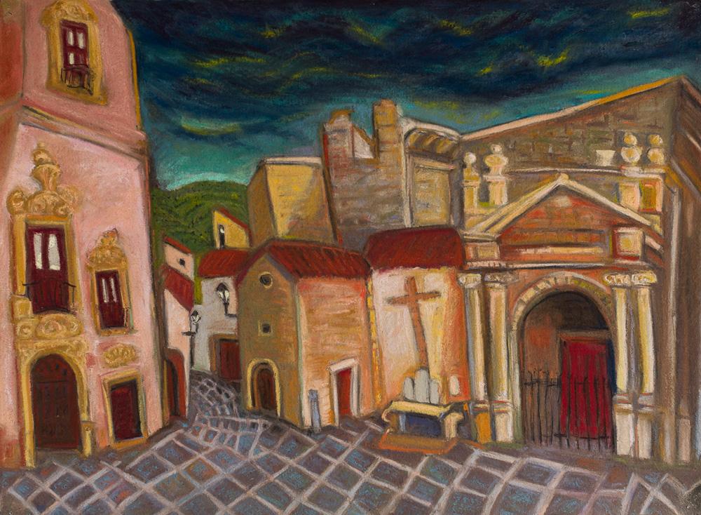 Erice, Sicily, pastel 22x30.jpg