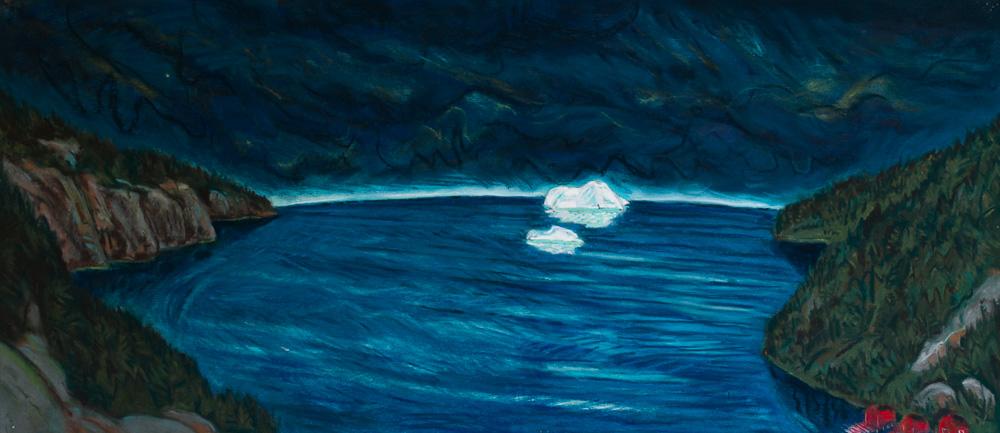 Iceberg Off Bonaventure Head, pastel 21x48 2016.jpg