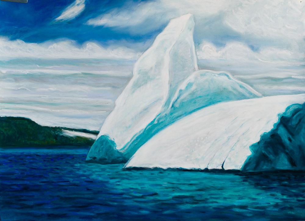 Iceberg, Trinity Bay #1, pastl 22x30 2017.jpg