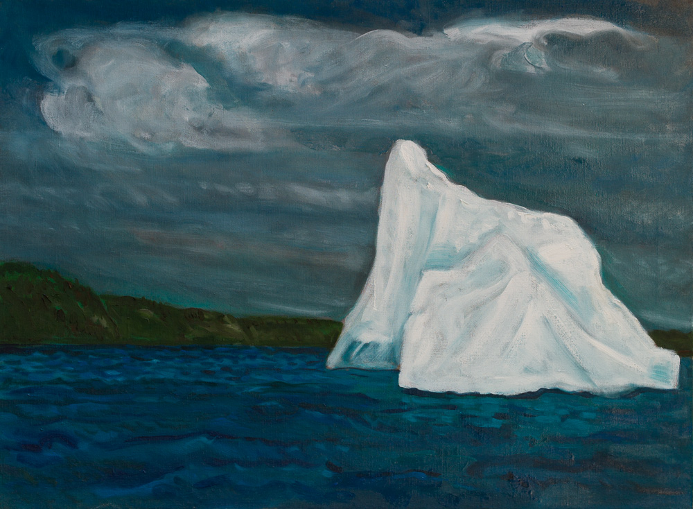 Iceberg, Trinity Bay #2, oil-linen 22x30 2017.jpg
