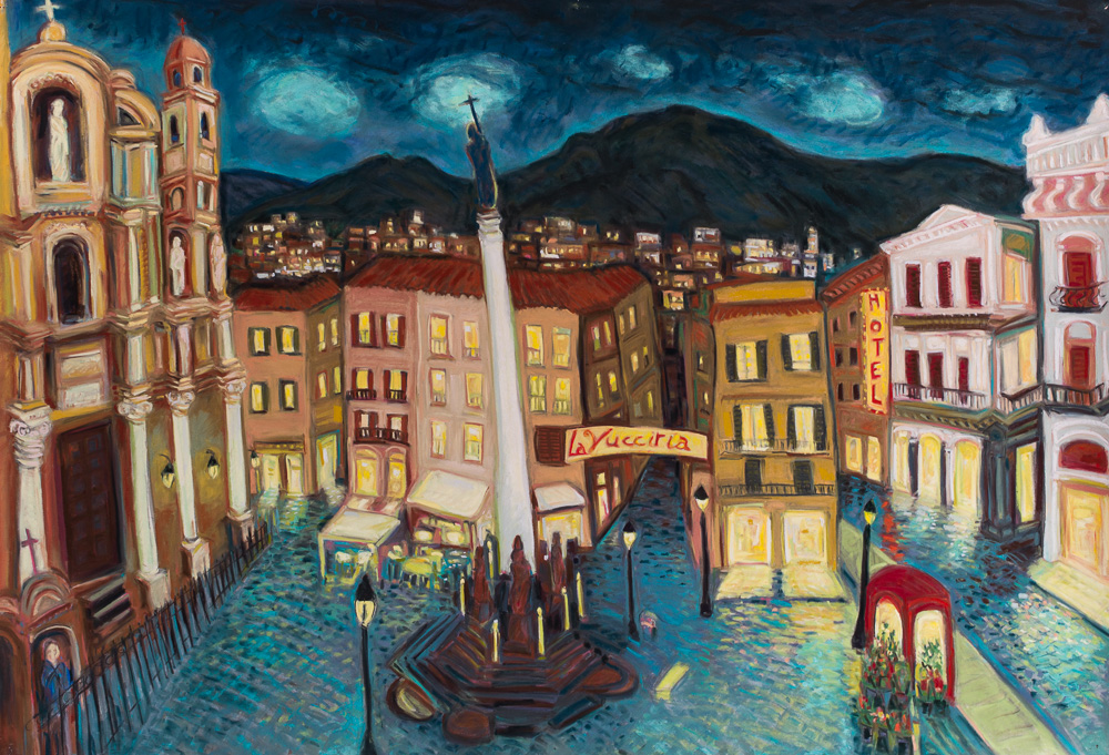 Rooftops Palermo, pastel 30x44.jpg