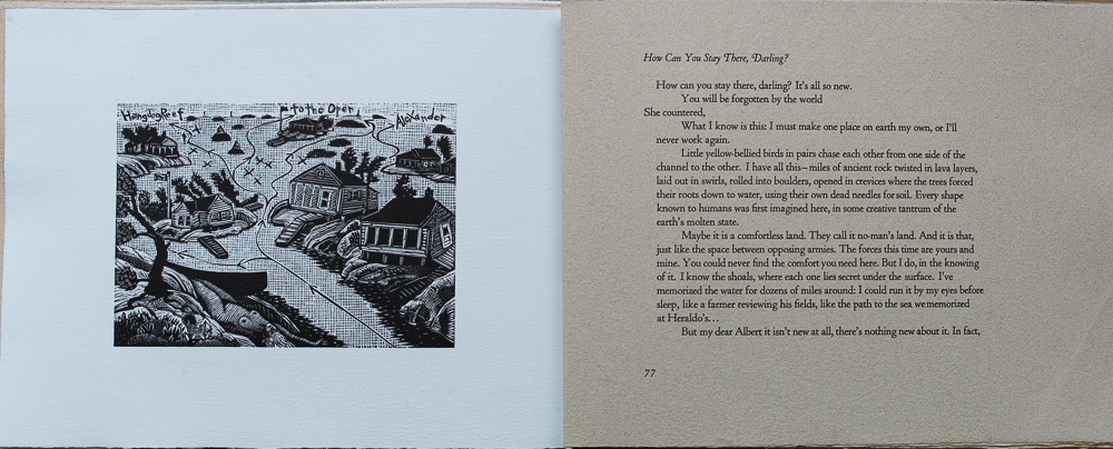 On Spirit lake, How Can You Stay There Darling? Katherine Govier. page spread.jpg