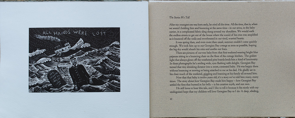 On Spirit Lake, The Stories We Tell, Andrea Curis. page spread.jpg