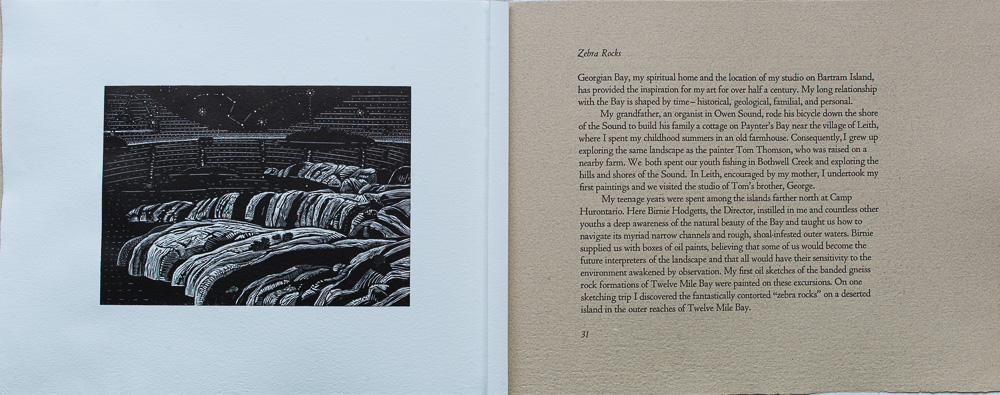 On Spirit Lake, Zebra Rocks, Ed Bartram, page spread.jpg