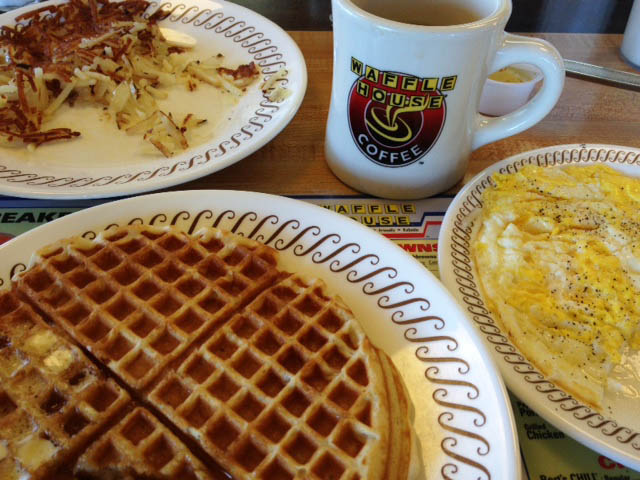 All that food and the only pic I snapped was Waffle House. It was my first time there!
