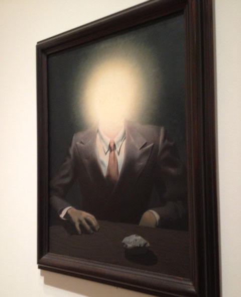 No photos were allowed for the Magritte exhibit, but I couldn't help myself.