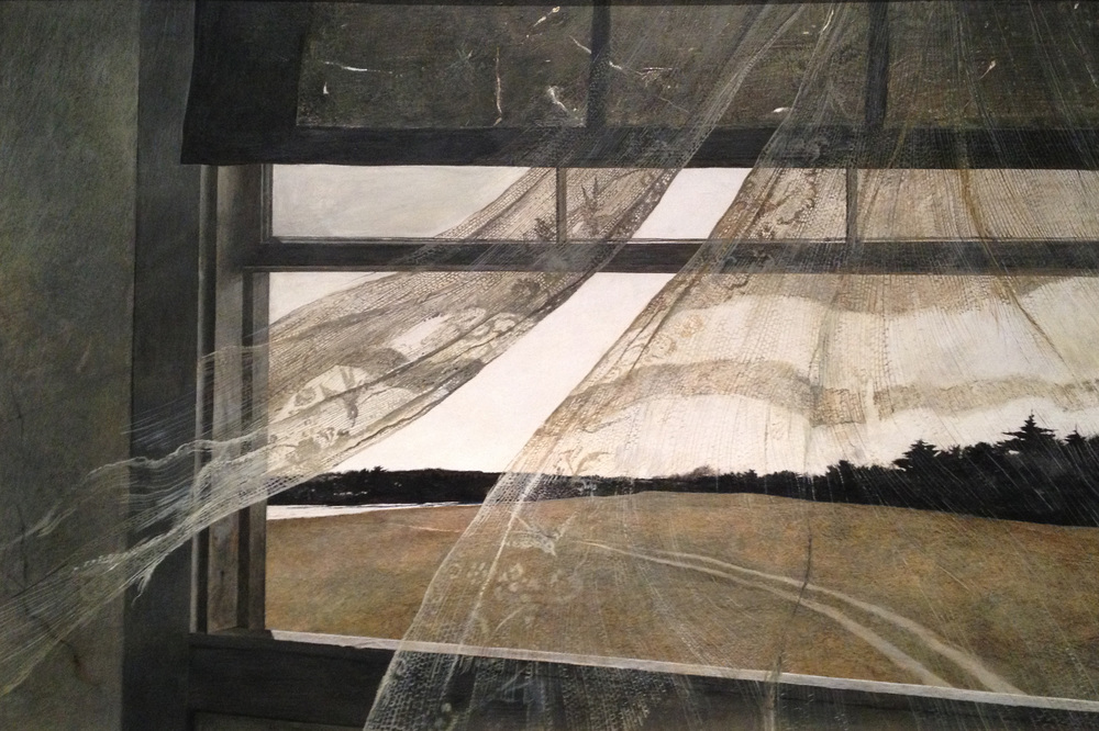 I always love Wyeth's muted tones, bleak but beautiful.