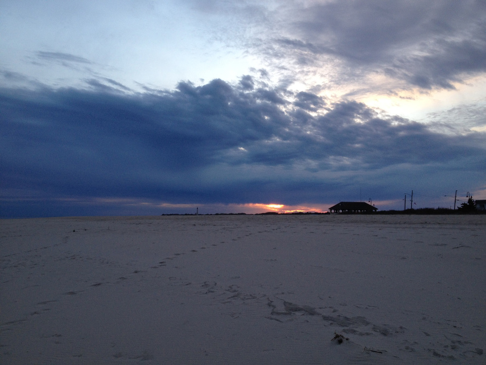 Beach and sky.