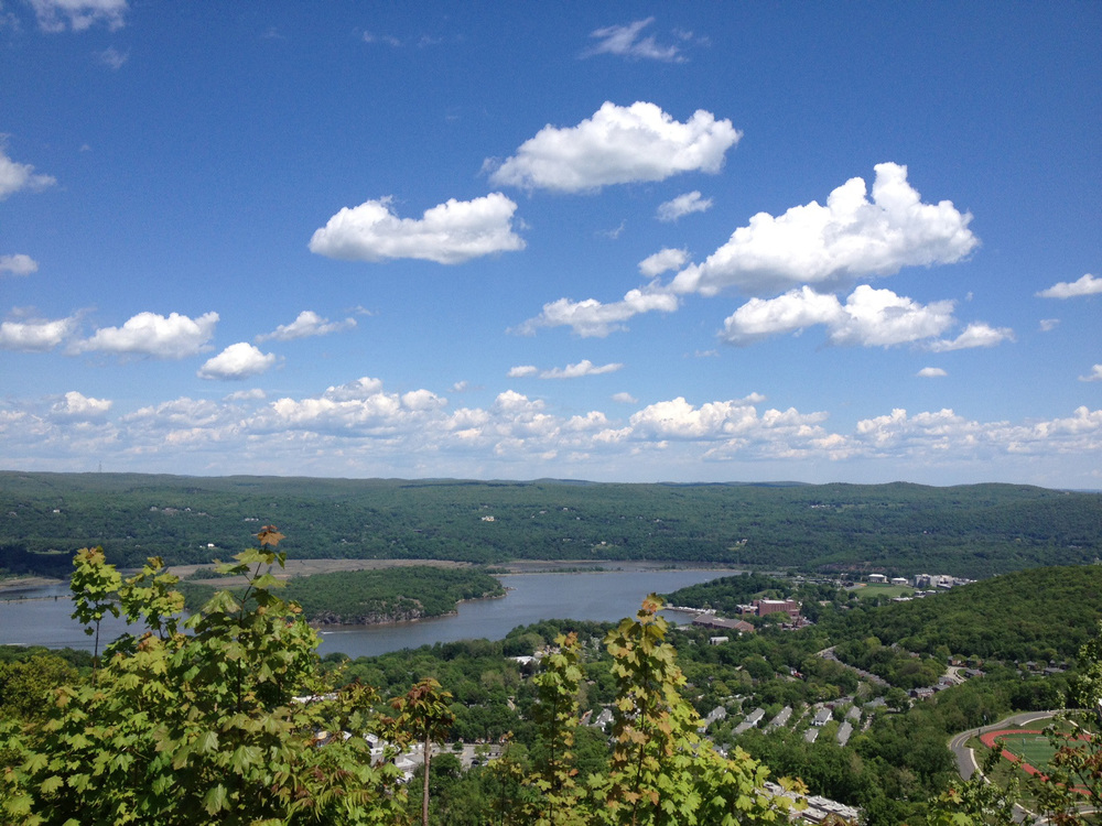 We took some winding backroads and ended up at the overlook on Bear Mountain.