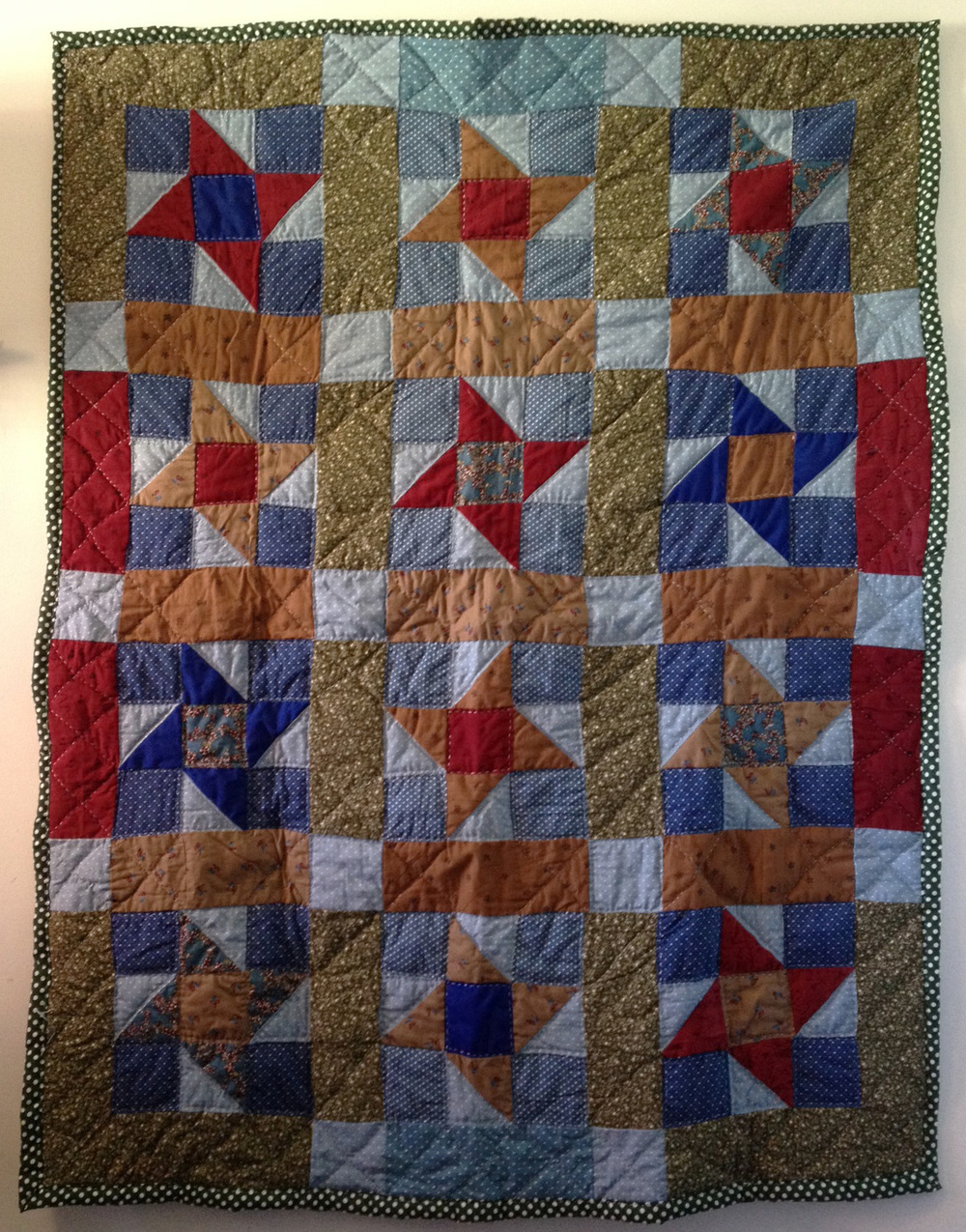 Moodily lit First Friendship Quilt.