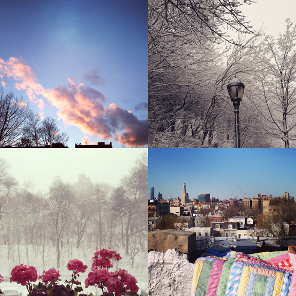 1) The sky is starting to look like Springtime. 2) Last magically white snow storm of March. 3) Earlier in the mouth was pretty powdery, too. 4) Bright skies for photo shoots.
