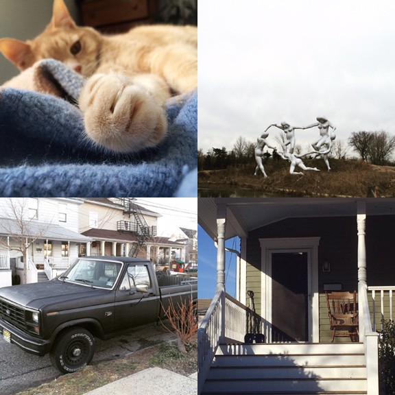 1) Big, bad, kitty. 2) Out and about in NJ. 3) #myfavoritetrucksofasburypark 4) Just the ears.
