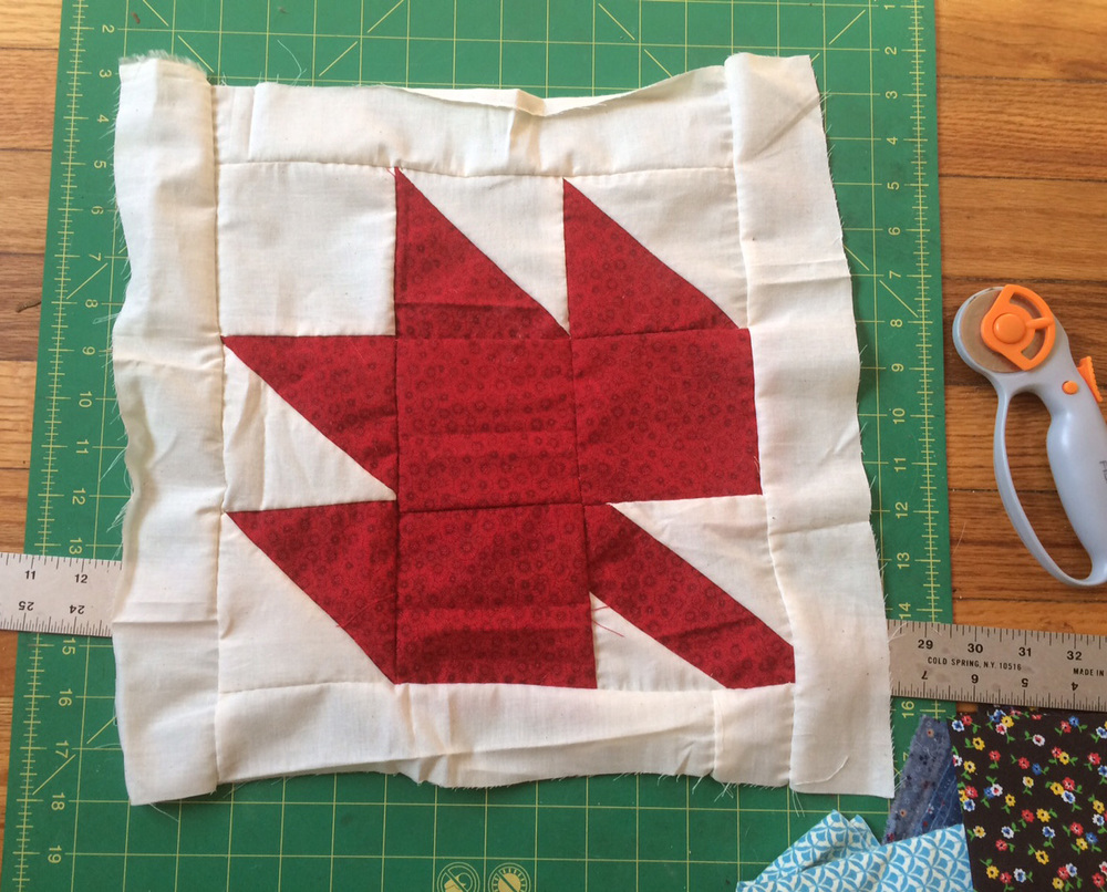 Although it's not my style, I'll iron this block before sending it.