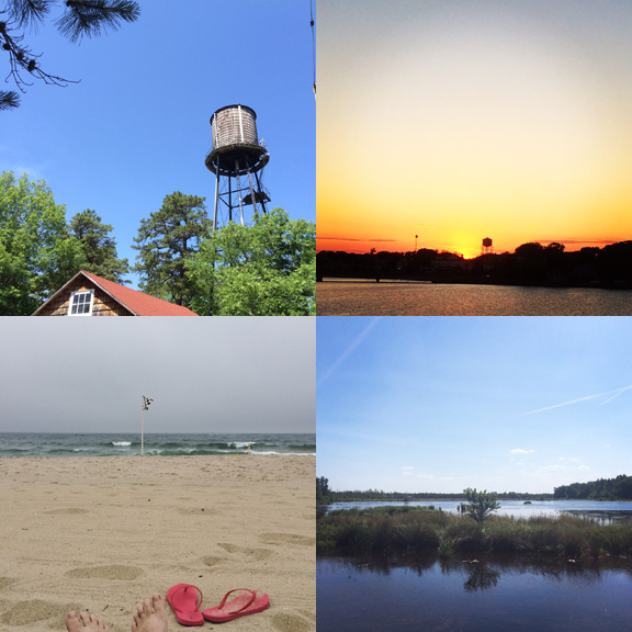 1) Whitesbog, New Jersey. 2) Deal, New Jersey. 3) Ocean Grove, New Jersey. 4) The bog at Whitesbog.