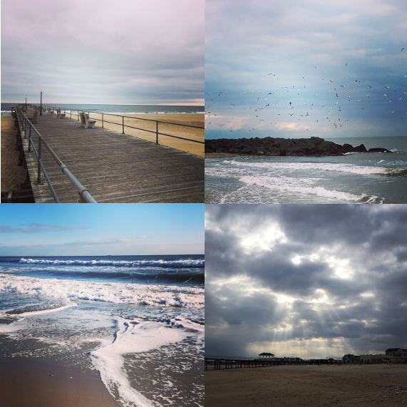 1) The pier. 2) The jetty. 3) The sea. 4) The sky,