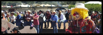 The annual Lincoln County Cowboy Symposium at Ruidoso Downs Race Track in October.