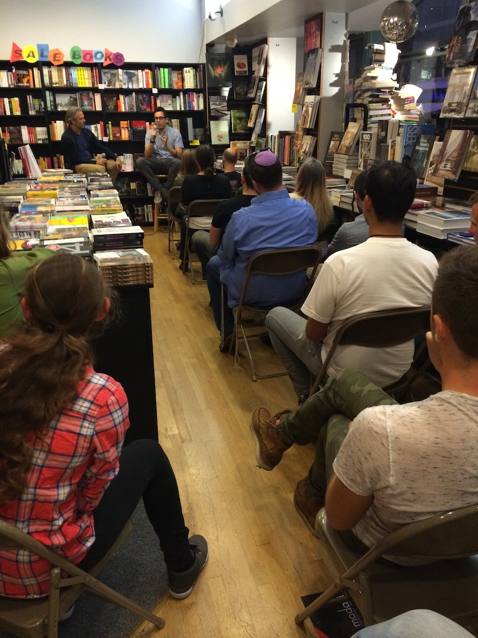 Yacking it up with  MORTIFIED  creator David Nadelberg at  Book Soup . My favorite quote of the night was when he said that Zorro was like the first street artist. Too perfect.