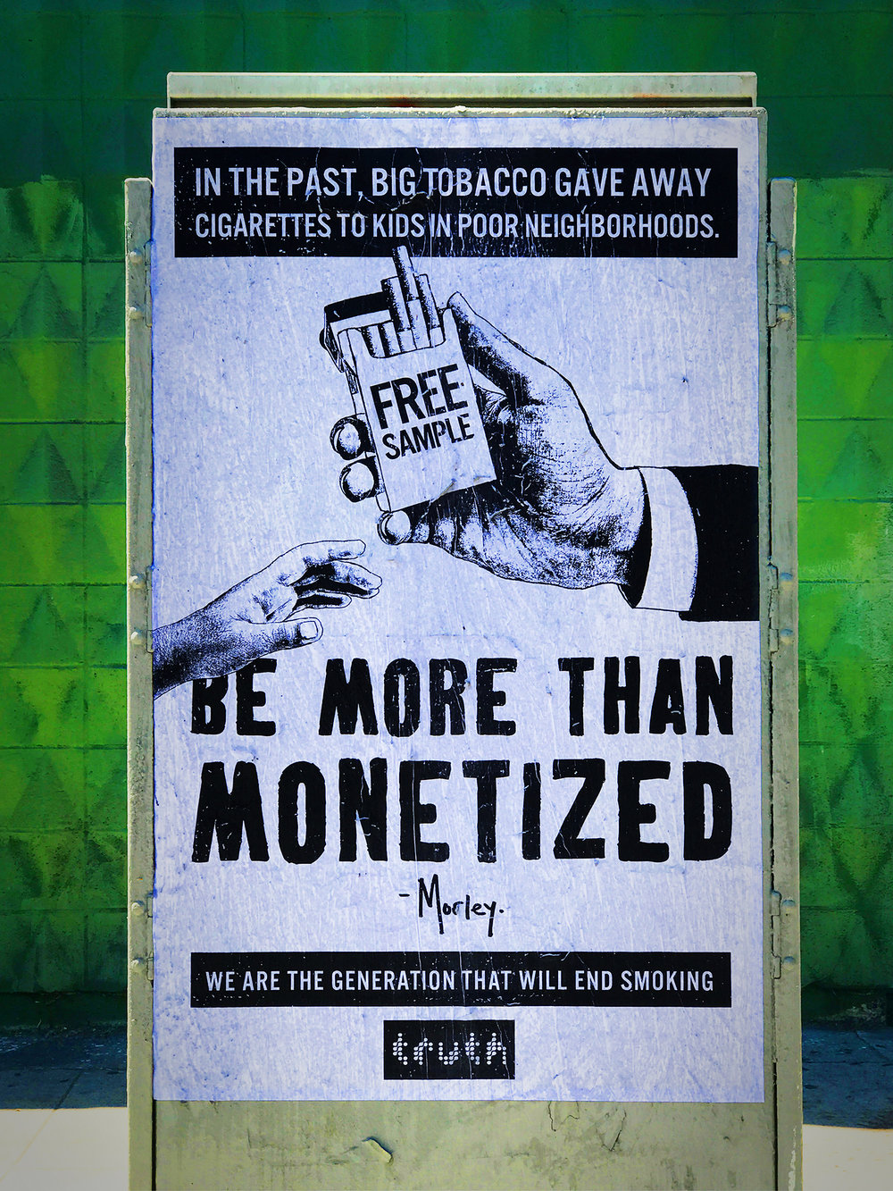 Artwork commissioned by anti-smoking advocate Truth.
