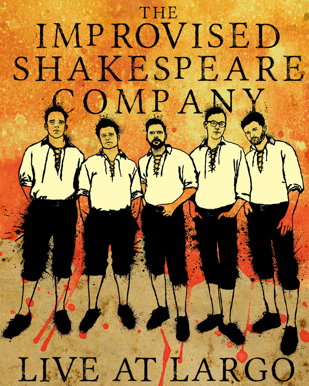 Promotional poster for The Improvised Shakespeare Company.