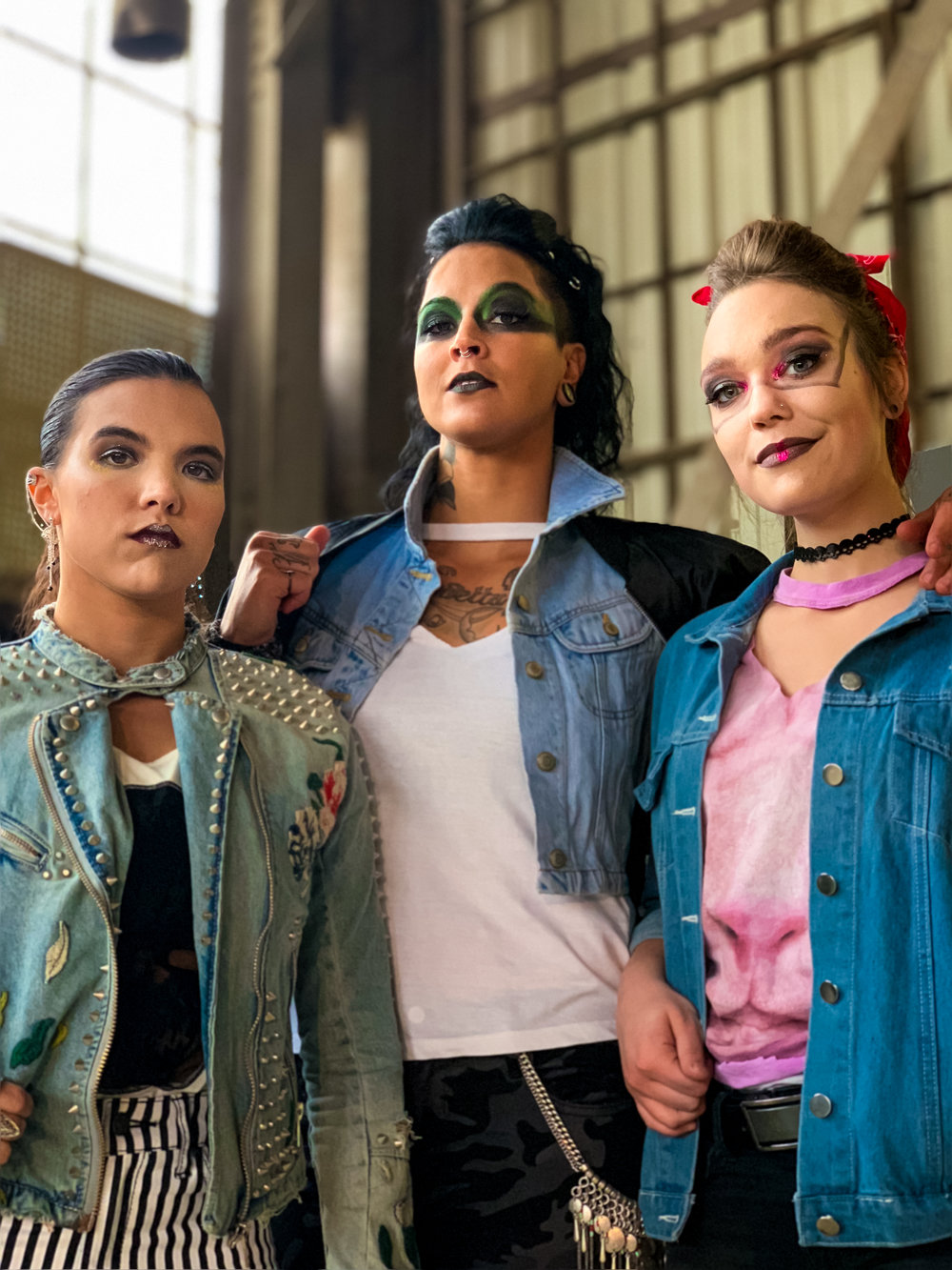 A few of our Rockers and Fashionistas in full hair and makeup. They're ready to fight!