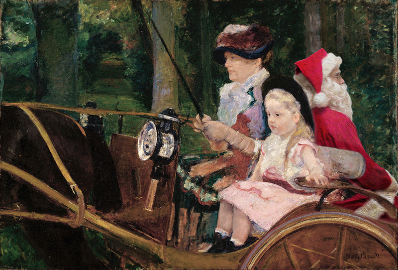 A Woman and a Girl Driving