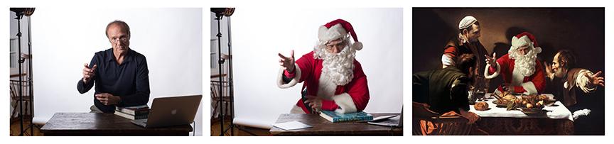 Wheeler as Santa. Ryan Williams Blog.