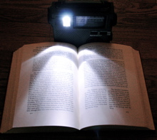 The LED Lamp on the FR200 makes night reading possible
