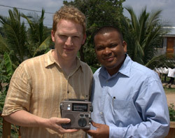 ETOW Director, Thomas Witherspoon with the Belize Minister of Education, Honorable Patrick Faber