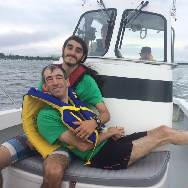 Billy and Ben R. on the boat (feat. Luke)