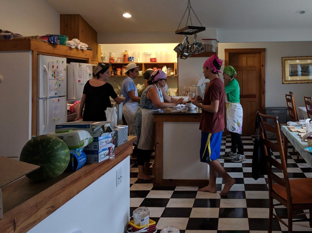 Lunch-making crew