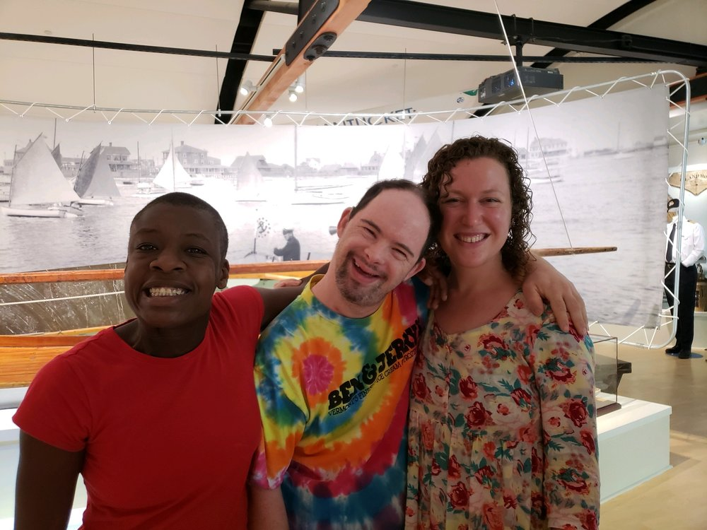 Adama, Luke & Rachel hanging at whaling museum