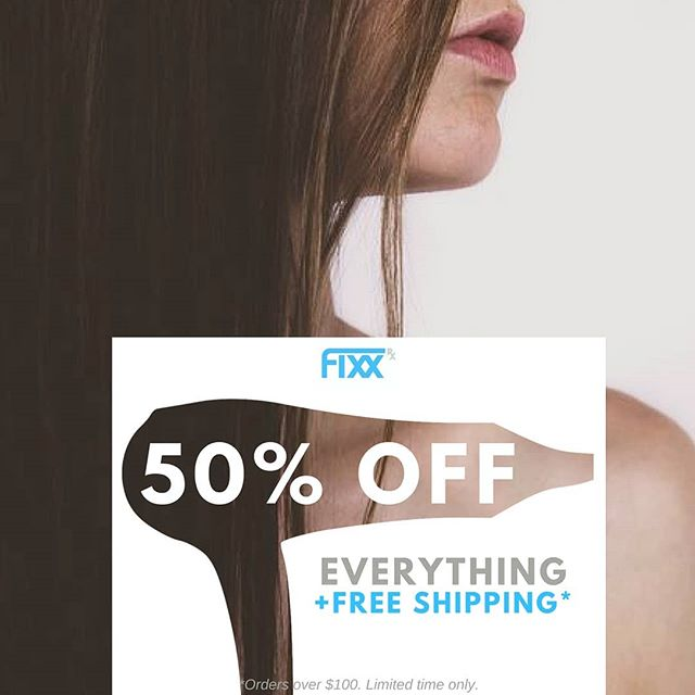 If you haven't yet experienced the ease of styling and outstanding results that come with using our flat irons, dryers and brushes then you are missing out. The great news is that you can get your hands on one now for 50% OFF for a limited time. Shop the URL in the description! . . . . . #fixxrx #hairstyling #beauty #stylingtools #hair #flatiron #hairbrushes #dryers #instadeals #shopdeals #y