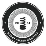 2014 Webby Award             Honoree