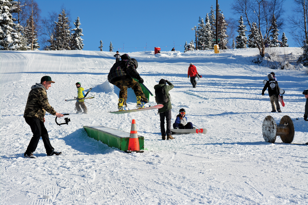 "The first Crude affiliated contest went off. It was a little shaky at first – Alyeska got like 36"" of new in the 24 hours prior to the contest. So, only like 3 people initially signed up. Hilltop was busy, but people seemed more interested in riding than competing."