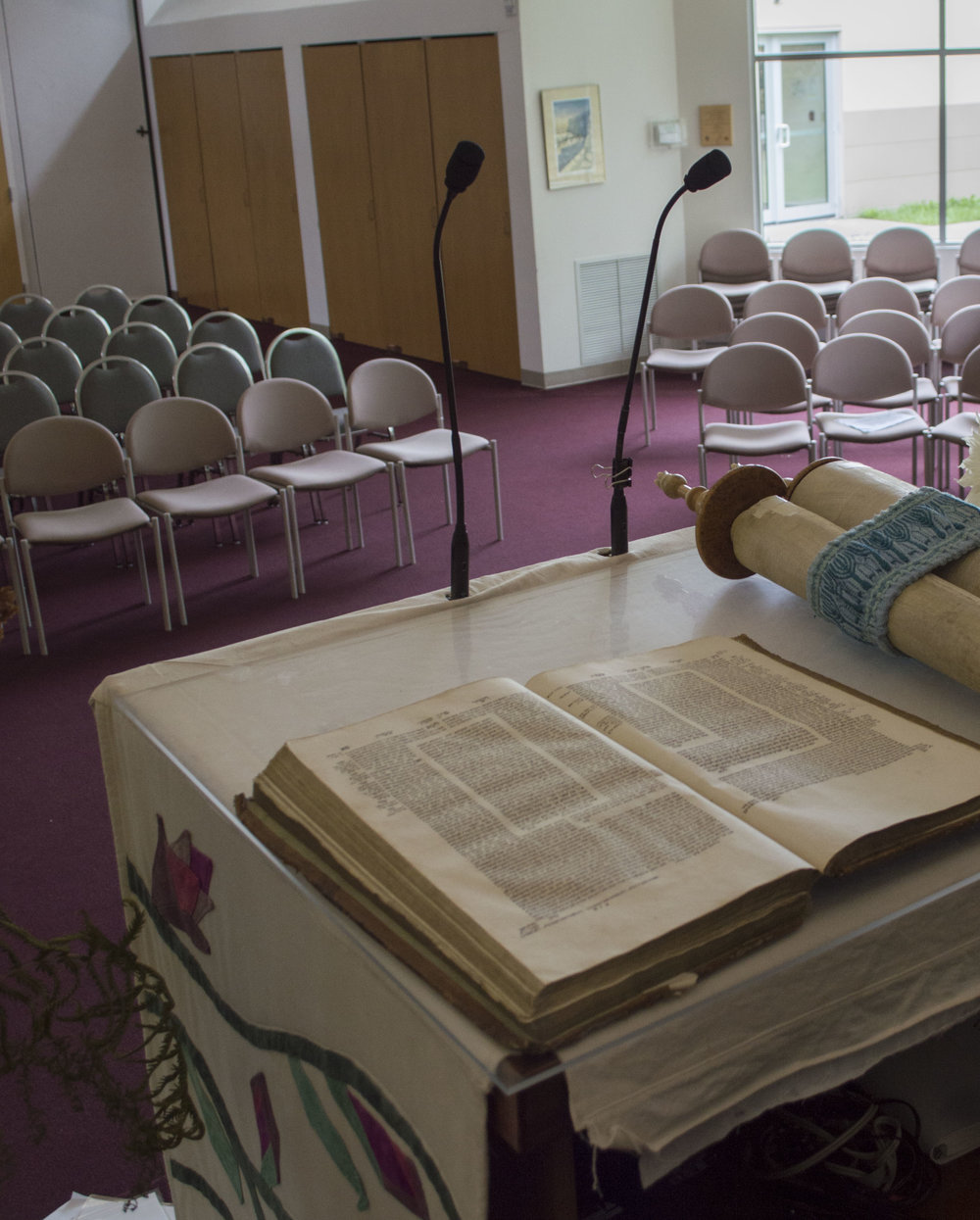 "Book on Left / Holocaust Talmud, written in Vienna and found in Austria. ""This has seen more hate and more humanity than we'll ever know,"" Rabbi Abram preached in last week's sermon."